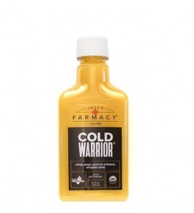Cold Warrior® Arm yourself for battle with a powerful elixir of fresh orange, soothing ginger, echinacea, elderberries, and organic honey.