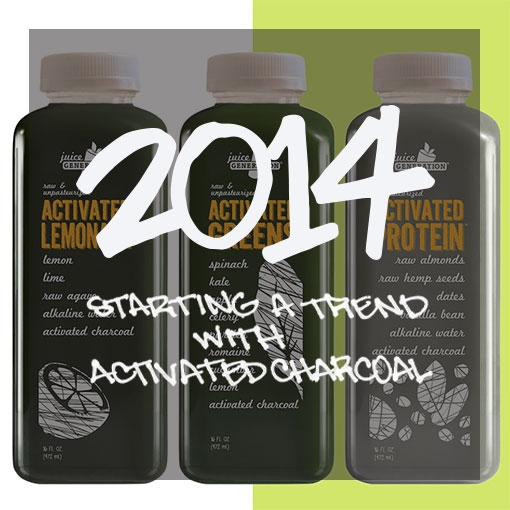 3 Activated Charcoal Juice Bottles